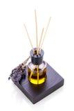 Αρωματικό lavender ευώδες αντικείμενο πετρελαίου που απομονώνεται Στοκ Φωτογραφίες