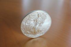 ασήμι αετών νομισμάτων Στοκ Εικόνα