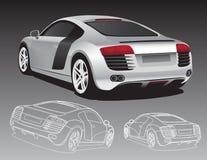 ασήμι αυτοκινήτων διανυσματική απεικόνιση