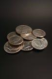 ασήμι δολαρίων κατά το ήμισυ Στοκ Φωτογραφία
