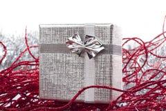 ασήμι δώρων διακοσμήσεων &Ch Στοκ εικόνα με δικαίωμα ελεύθερης χρήσης