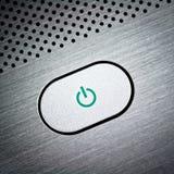 ασήμι ισχύος κουμπιών Στοκ Εικόνα