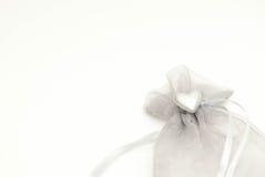 ασήμι καρδιών τσαντών Στοκ Φωτογραφίες