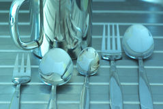 ασήμι κουζινών Στοκ εικόνες με δικαίωμα ελεύθερης χρήσης