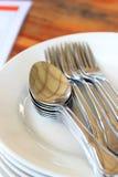 ασήμι κουταλιών Στοκ εικόνα με δικαίωμα ελεύθερης χρήσης