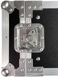 Ασήμι/μαύρο κουτί/κλουβί για το μουσικό εξοπλισμό Στοκ εικόνα με δικαίωμα ελεύθερης χρήσης