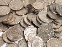 ασήμι νομισμάτων Στοκ φωτογραφίες με δικαίωμα ελεύθερης χρήσης