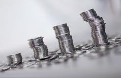 ασήμι νομισμάτων στοκ φωτογραφία