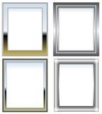 ασήμι πλαισίων χρωμίου διανυσματική απεικόνιση