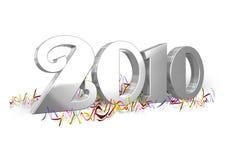 ασήμι του 2010 διανυσματική απεικόνιση