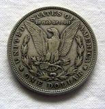 ασήμι του Morgan δολαρίων Στοκ Εικόνες