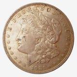 ασήμι του Morgan δολαρίων Στοκ Φωτογραφίες