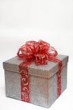 ασήμι δώρων που τυλίγετα&iota Στοκ Εικόνες