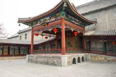 Ασία Κίνα, Πεκίνο, άσπρος ναός ï ¼ ŒLandscape architectureï ¼ ŒPavilion, στοά σύννεφων Στοκ Φωτογραφίες