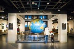 Ασία Κίνα, Πεκίνο, γεωλογικό μουσείο, εσωτερική αίθουσα έκθεσης Στοκ Φωτογραφίες