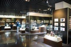 Ασία Κίνα, Πεκίνο, γεωλογικό μουσείο, εσωτερική αίθουσα έκθεσης Στοκ εικόνες με δικαίωμα ελεύθερης χρήσης
