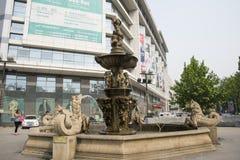 Ασία Κίνα, Πεκίνο, κεντρικό εμπορικό κέντρο CBD, φραγμός πόλεων Στοκ φωτογραφίες με δικαίωμα ελεύθερης χρήσης