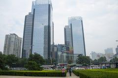 Ασία Κίνα, Πεκίνο, κεντρικό Plaza, σύγχρονη αρχιτεκτονική Στοκ Εικόνα