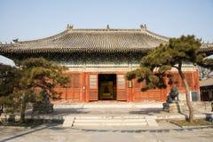 Ασία Κίνα, Πεκίνο, ναός Baita, κλασσική αίθουσα Œpalace architectureï ¼ Στοκ Φωτογραφία