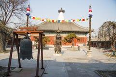 Ασία Κίνα, Πεκίνο, ναός Baita, κλασσική αρχιτεκτονική Στοκ Εικόνες