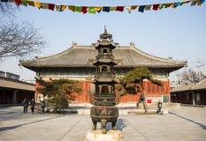 Ασία Κίνα, Πεκίνο, ναός Baita, κλασσικός καυστήρας ŒIncense architectureï ¼ Στοκ Φωτογραφία