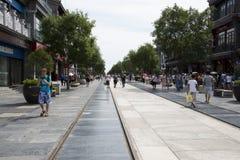Ασία, Κίνα, Πεκίνο, οδός Qianmen, εμπορική οδός, οδός περιπάτων Στοκ Φωτογραφία