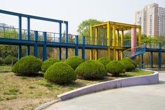 Ασία Κίνα, Πεκίνο, πάρκο παλατιών ήλιων, πλατφόρμα ¼ ŒViewing, διαμορφωμένη μανιτάρι τοπίων architectureï πράσινη ζώνη Στοκ φωτογραφίες με δικαίωμα ελεύθερης χρήσης
