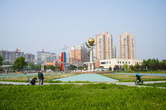 Ασία Κίνα, Πεκίνο, πάρκο παλατιών ήλιων, τοπίο architectureï ¼ Œ Στοκ Εικόνες