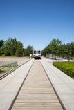 Ασία Κίνα, Πεκίνο, πάρκο πολιτισμού μετρό, ατμομηχανή Στοκ φωτογραφία με δικαίωμα ελεύθερης χρήσης