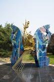 Ασία Κίνα, Πεκίνο, πάρκο Chaoyang, γλυπτό τοπίων, έμμετρος λόγος πεταλούδων στοκ φωτογραφίες με δικαίωμα ελεύθερης χρήσης
