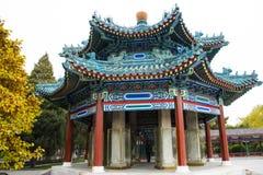 Ασία Κίνα, Πεκίνο, πάρκο Zhongshan, παλαιό κτήριο, στοά περίπτερων Στοκ εικόνα με δικαίωμα ελεύθερης χρήσης