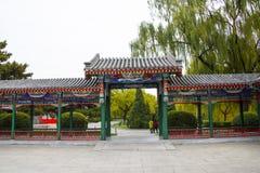 Ασία Κίνα, Πεκίνο, πάρκο Zhongshan, παλαιό κτήριο, στοά περίπτερων Στοκ Εικόνα