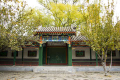 Ασία Κίνα, Πεκίνο, πάρκο Zhongshan, παλαιό περίπτερο οικοδόμησης Στοκ φωτογραφίες με δικαίωμα ελεύθερης χρήσης