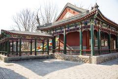 Ασία Κίνα, Πεκίνο, πάρκο Zizhuyuan, αρχιτεκτονική τοπίων, περίπτερο, στοά Στοκ Φωτογραφία