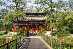 Ασία Κίνα, Πεκίνο, παλαιό θερινό παλάτι, αρχιτεκτονική τοπίων Στοκ Εικόνα