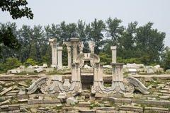 Ασία Κίνα, Πεκίνο, παλαιό θερινό παλάτι, καταστροφές, δυτική περιοχή οικοδόμησης, Στοκ Εικόνα