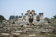 Ασία Κίνα, Πεκίνο, παλαιό θερινό παλάτι, καταστροφές, δυτική περιοχή οικοδόμησης, Στοκ Εικόνες