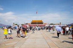 Ασία Κίνα, Πεκίνο, πλατεία Tiananmen, το Tian'anmen Rostrum Στοκ Εικόνα