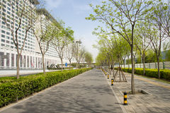 Ασία Κίνα, Πεκίνο, σύγχρονα κτήρια, φραγμοί πόλεων Στοκ εικόνες με δικαίωμα ελεύθερης χρήσης