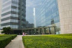 Ασία Κίνα, Πεκίνο, σύγχρονη αρχιτεκτονική, νέο πολυ Plaza Στοκ Φωτογραφίες