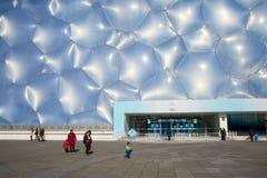 Ασία Κίνα, Πεκίνο, το εθνικό κέντρο Aquatics, η εμφάνιση οικοδόμησης Στοκ Φωτογραφία