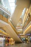 Ασία Κίνα, Πεκίνο, plaza αγορών λουλακιού, εσωτερική δομή κτηρίου Στοκ εικόνα με δικαίωμα ελεύθερης χρήσης