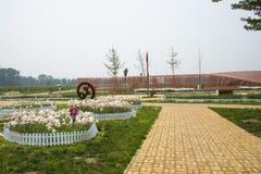 Ασία Κίνα, Πεκίνο, Yanqing, παγκόσμιο κρασί EXPO, σύγχρονο γλυπτό ŒLandscape architectureï ¼, Στοκ φωτογραφία με δικαίωμα ελεύθερης χρήσης