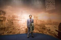 Ασία κινέζικα, Πεκίνο, Εθνικό Μουσείο, ο σύγχρονος πολιτισμός του κεριού προσωπικοτήτων, Mao Dun στοκ φωτογραφίες με δικαίωμα ελεύθερης χρήσης