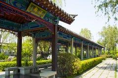 Ασία κινέζικα, Πεκίνο, κήπος EXPO, παλαιό κτήριο, περίπατος, Στοκ φωτογραφία με δικαίωμα ελεύθερης χρήσης