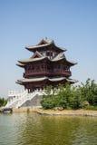 Ασία κινέζικα, Πεκίνο, κήπος EXPO, παλαιό κτήριο, περίπτερο Wenchang Στοκ εικόνα με δικαίωμα ελεύθερης χρήσης
