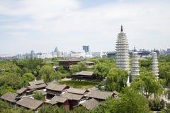 Ασία κινέζικα, Πεκίνο, Κίνα Minzu Yuan, εναέρια άποψη της αρχιτεκτονικής τοπίων, Στοκ εικόνες με δικαίωμα ελεύθερης χρήσης