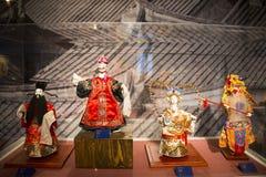 Ασία κινέζικα, Πεκίνο, κινεζικό Μουσείο Τέχνης, εσωτερική κινεζική όπερα ¼ Œ puppetï ¼ ŒTraditional charactersï ¼ Œ έκθεσης hallï Στοκ εικόνα με δικαίωμα ελεύθερης χρήσης