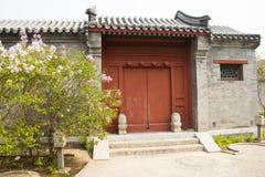 Ασία κινέζικα, Πεκίνο, παλαιό κτήριο, πύλη Στοκ Εικόνες
