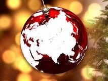 Ασία στη σφαίρα Χριστουγέννων στοκ εικόνες